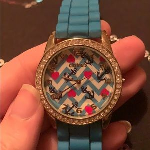 Claire's Blue Silicone Watch OS